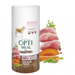 Optimeal (Оптимил) беззерновой сухой корм для взрослых собак всех пород индейка и овощи 0,65 кг