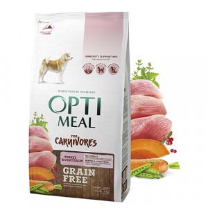 Optimeal (Оптимил) беззерновой сухой корм для взрослых собак всех пород индейка и овощи 1,5 кг