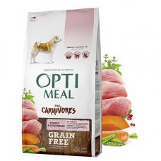 Optimeal (Оптимил) беззерновой сухой корм для взрослых собак всех пород индейка и овощи 10 кг
