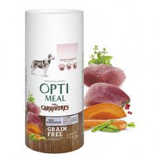 Optimeal (Оптимил) беззерновой сухой корм для взрослых собак всех пород утка и овощи 0,65 кг