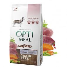 Optimeal (Оптимил) беззерновой сухой корм для взрослых собак всех пород утка и овощи 1,5 кг
