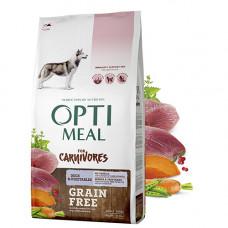 Optimeal (Оптимил) беззерновой сухой корм для взрослых собак всех пород утка и овощи 10 кг