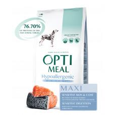 Optimeal (Оптимил) гипоаллергенный сухой корм для взрослых собак больших пород с лососем 12 кг