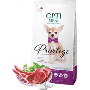 Optimeal (Оптимил) гипоаллергенный сухой корм для взрослых собак миниатюрных и малых пород с ягненком и рисом 1,5 кг