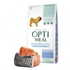 Optimeal (Оптимил) гипоаллергенный сухой корм для взрослых собак средних пород с лососем 12 кг