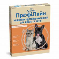Ошейник для собак и кошек от блох и клещей ТМ Природа ПрофиЛайн 35 см. (оранжевый)