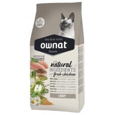 Ownat Light сухой корм для кошек склонных к набору весу 1,5 кг