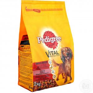Pedigree (Педигри) сухой корм для собак мелких пород с говядиной и овощами 2 кг