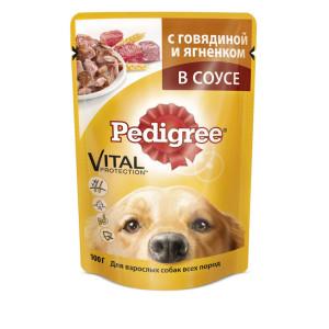Pedigree (Педигри) консервы для взрослых собак всех пород с ягненком и говядиной 100 г