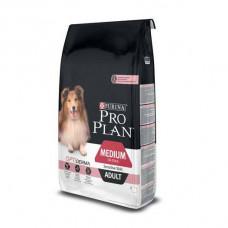 Pro Plan Medium Sensitive корм для взрослых собак склонных к аллергии с лососем 14кг