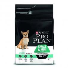 Pro Plan small & mini sensitive digestion корм с курицей для собак маленьких пород с чувствительным пищеварением 15кг.