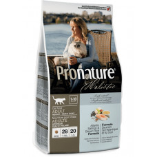 Pronature Holistic Adult Atlantic Salmon&Brown Rice сухой корм для котов всех пород с лососем и рисом 5,44 кг