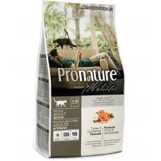 Pronature Holistic Adult Turkey&Cranberries сухой корм для котов всех пород с индейкой и клюквой 2,72 кг