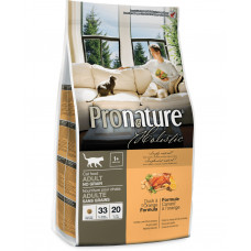 Pronature Holistic сухой корм для котов с уткой и апельсинами без злаков 0,34 кг