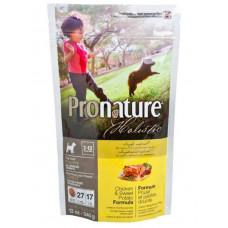 Pronature Holistic Puppy Chicken&Sweet Potato сухой корм для щенков всех пород с курицей и бататом 0,34 кг