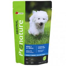 Pronature Original Dog Chicken Oatmeal сухой корм для взрослых собак с курицей и овсянной мукой 0,34 кг.
