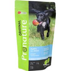 Pronature Original Puppy Chicken Oatmeal сухой корм для щенков всех пород с курицей и овсяной мукой 0,34 кг.