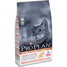 Pro Plan Derma Plus сухой корм для котов с чувствительной кожей с лососем 10кг
