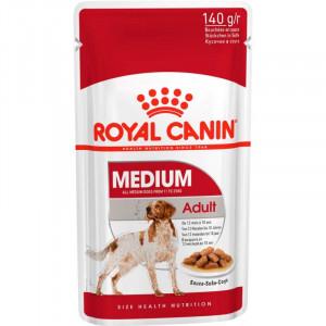 Royal Canin Medium Adult консерви для собак середніх порід шматочки в соусі 140 г