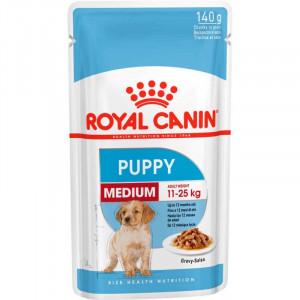 Royal Canin Medium Puppy консерви для цуценят середніх порід шматочки в соусі 140 г