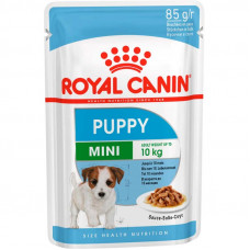 Royal Canin Mini Puppy консерви для цуценят дрібних порід шматочки в соусі 85 г