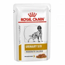 Royal Canin Urinary S/O Moderate Calorie консервы для собак при заболеваниях нижних мочевыводящих кусочки в соусе 100 г