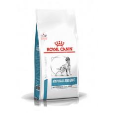 Royal Canin Hypoallergenic Moderate Calorie Canine для собак страдающих избыточным весом и пищевой аллергией 14 кг.
