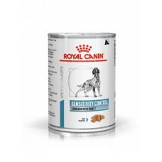 Royal Canin sensitivity Canine chicken cans консервы для собак при пищевой аллергии, курица с рисом 0,42 кг.