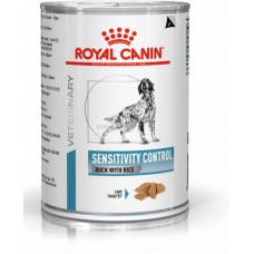 Royal Canin sensitivity Canine duck cans консервы для собак при пищевой аллергии, утка с рисом 0,42 кг.