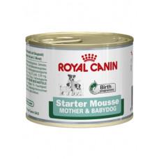 Royal Canin starter mousse консервы для сук и щенков до 2 месяцев 0,195 кг.