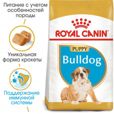Royal Canin Bulldog Puppy корм для щенков до 12 месяцев 12 кг.