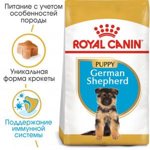 Royal Canin German Shepherd Puppy корм для щенков до 15 месяцев 12 кг.