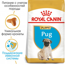 Royal Canin pug Puppy корм для щенков до 10 месяцев 0,5 кг.