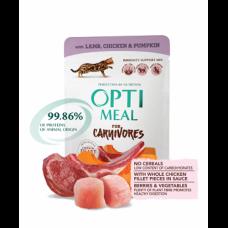 Optimeal консерва для котов с ягненком и куриным филе в арбузном желе 0,085 кг