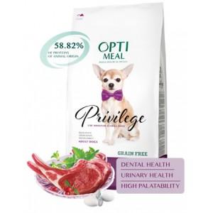 Optimeal (Оптимил) гипоаллергенный сухой корм для взрослых собак миниатюрных и малых пород с ягненком и рисом 4 кг