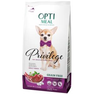 Optimeal (Оптимил) беззерновой сухой корм для взрослых собак миниатюрных и малых пород с ягненком 1,5 кг