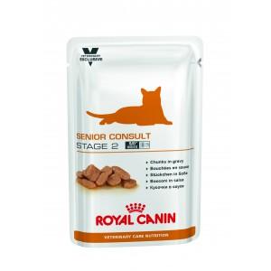 Royal Canin senior consult stage 2 pouches корм для котов от 7 лет имеющих видимые признаки старения 0,1 кг.