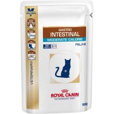 Royal Canin gastro intestinal moderate calorie feline Pouches влажный корм для кошек при нарушении пищеварения 0,085 кг.