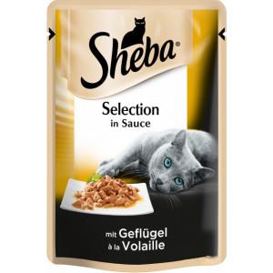 Sheba cig POU консервы для кошек с домашней птицей в соусе 85 г