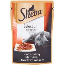 Sheba cig POU консервы для кошек с говядиной в соусе 85 г