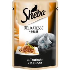 Sheba cig POU консервы для кошек с индейкой в желе 85 г