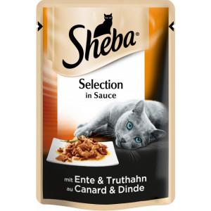 Sheba cig POU консервы для кошек с уткой и индейкой в соусе 85г