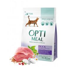 Optimeal сухой корм для котов всех пород с эффектом выведения шерсти - утка 10 кг