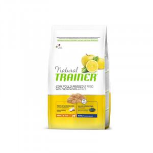 Trainer Natural Adult Mini сухой корм для взрослых собак мелких пород с курицей, рисом и алоэ вера 0,8 кг