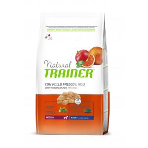 Trainer Natural Adult Medium сухой корм для взрослых собак средних пород с курицей, рисом и алоэ вера 3 кг