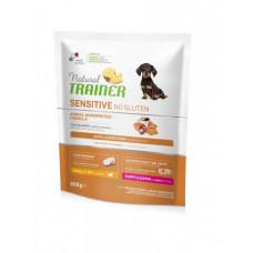 Сухой корм Trainer Natural Dog Sensitive Super Premium Puppy & Junior Mini для щенков мелких пород с лососем 0,8 кг