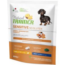 Сухой корм для собак Natural Trainer Dog Sensitive Adult Mini With Salmon с лососем и цельными зернами 800 г