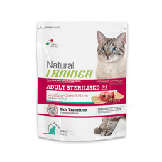 Trainer Natural Adult Sterilised сухой корм для взрослых стерилизованых кошек с сыровяленой ветчиной 1,5 кг