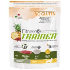 Trainer Fitness3 Adult Mini сухой корм для взрослых собак мелких пород с уткой, рисом и маслом 0,8 кг