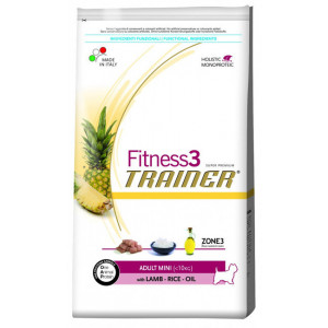 Trainer Fitness3 Adult Mini сухой корм для взрослых собак мелких пород с ягненком, рисом и масло 2 кг